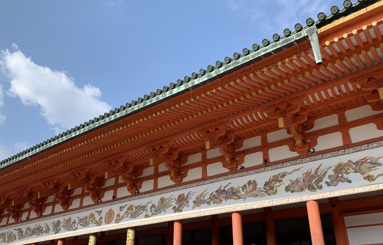 heian shrine detail