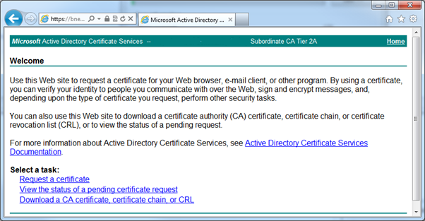Splunk Web Interface SSL Certificates – Microsoft AD CA
