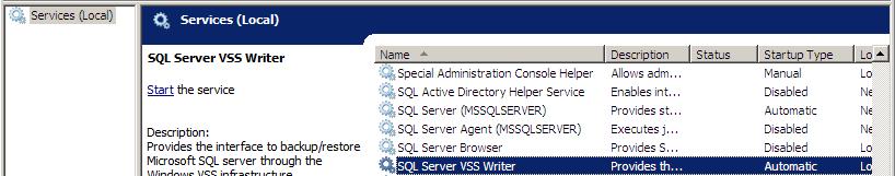 SQL server in services.msc
