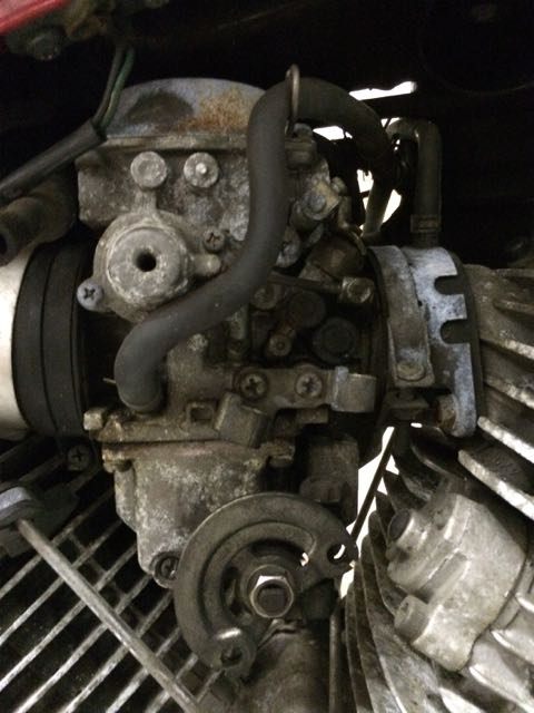 Front carb, right hand side